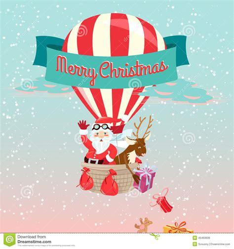 festive merry christmas greeting card  santa claus    stock vector illustration