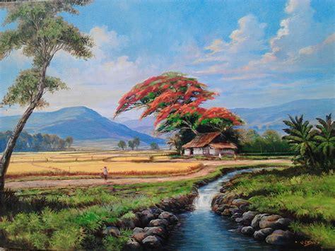 Lukisan Pemandangan Pantai related keywords suggestions for lukisan pemandangan