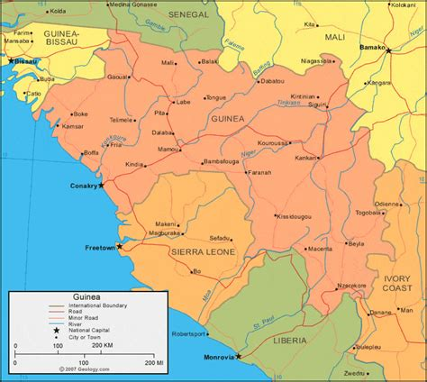 guinea ecuatorial map guinea map and satellite image