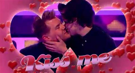 james corden tattoos corden gives niall horan a and kisses harry