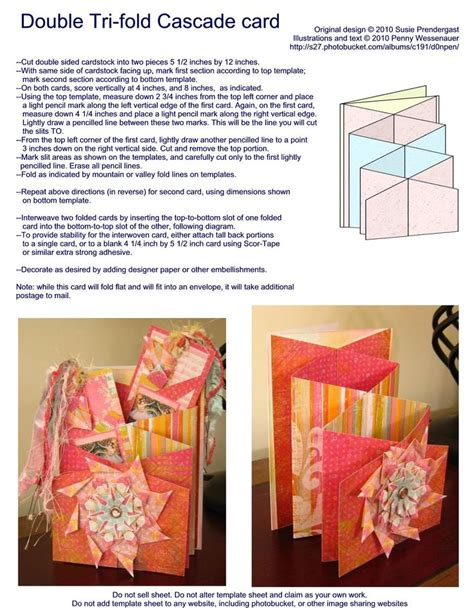 cascade card template tri fold cascade card template note the links are
