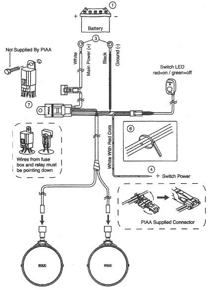 wiring diagram for piaa lights wiring diagram manual