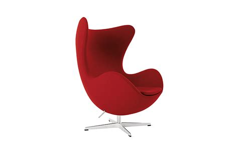 Red Egg Chair by Egg Chair Design Within Reach