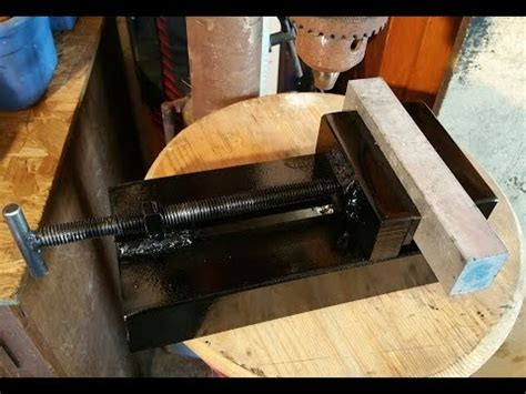homemade vise drill press vise scrap metal vise youtube