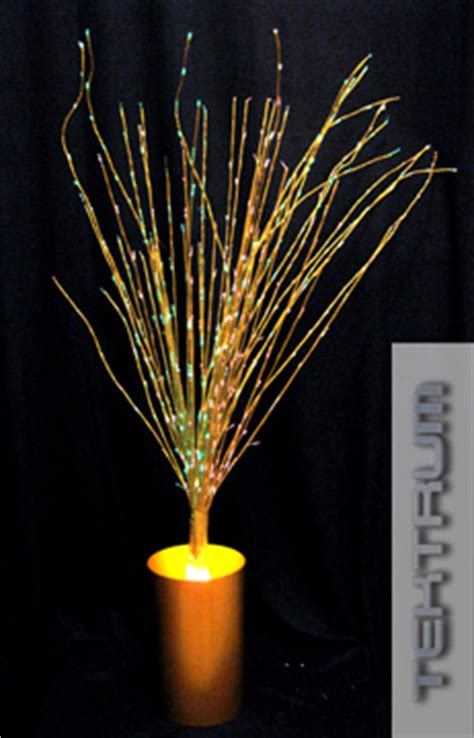 72 inch white fibre optic twig tree with silver base lights