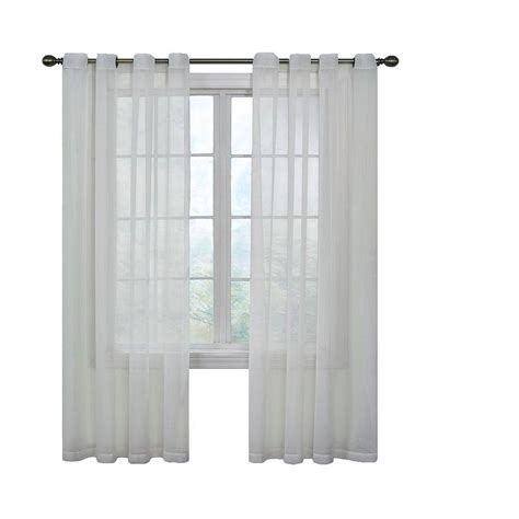 Sheer Curtains White Curtain Fresh Arm And Hammer Odor Neutralizing Grommet White Sheer Curtain Panel 84 In Length
