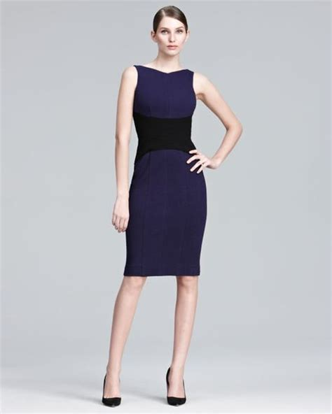 Who Wore It Better Narciso Rodriguez Lavender Tie Dress by Narciso Rodriguez Contrastwaist Sheath Dress In Purple