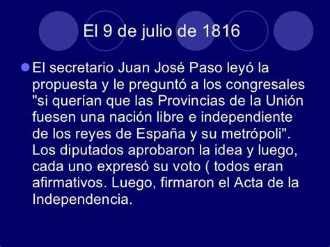 Resumen 9 De Julio by 9 De Julio De 1816