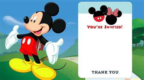 mickey mouse printable invitations free delli beriberi co