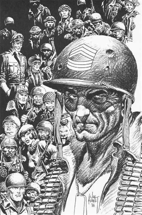7 World Comic Artists by War Comics 171 Dork Forty