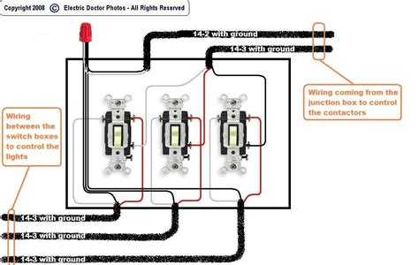 how to wire 3 light switches in one box diagram 47