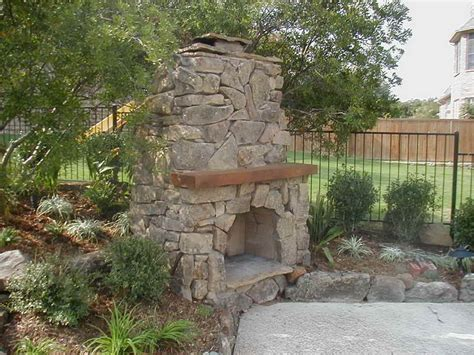 Ideas Concrete Stone Outdoor Fireplace Plans Outdoor Outdoor Patio Fireplace Designs