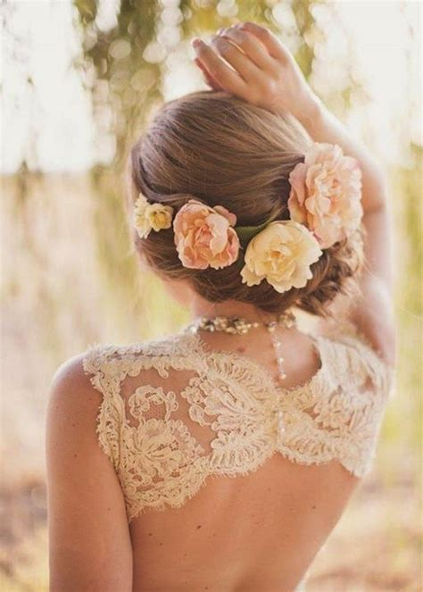 Wedding Hair With Roses by Braided Wedding Hairstyles With Beautiful Flowers