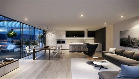 House Plans Open Concept by Decoration Interieur Salon Cuisine Ouverte