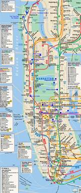 Map Of New York City Manhattan by Subway Map Of Manhattan Nyc Manhattan New York City