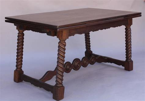 antique 1920s revival table with pull out leaves