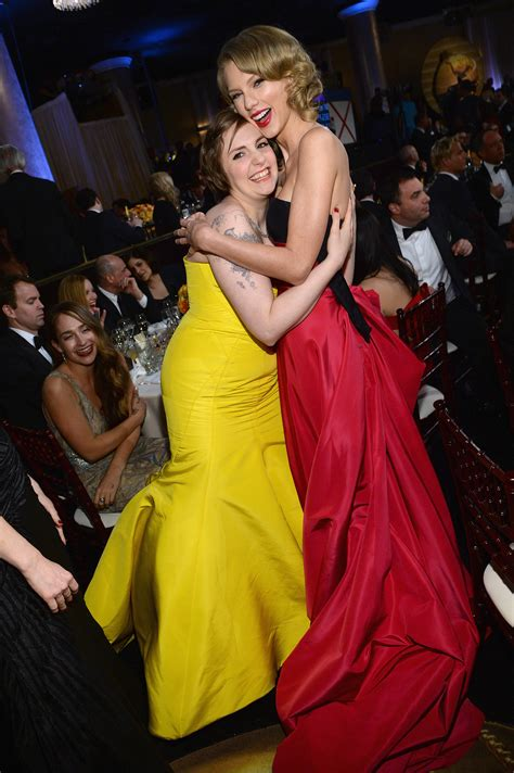 taylor swift and that was the moment i knew taylor swift and lena dunham had a girls moment during