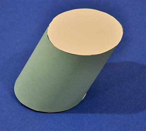 How To Make Cylinder With Paper - how to make an oblique circular cylinder out of paper