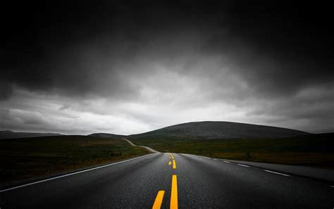 wallpaper black road road wallpaper www gnome look org