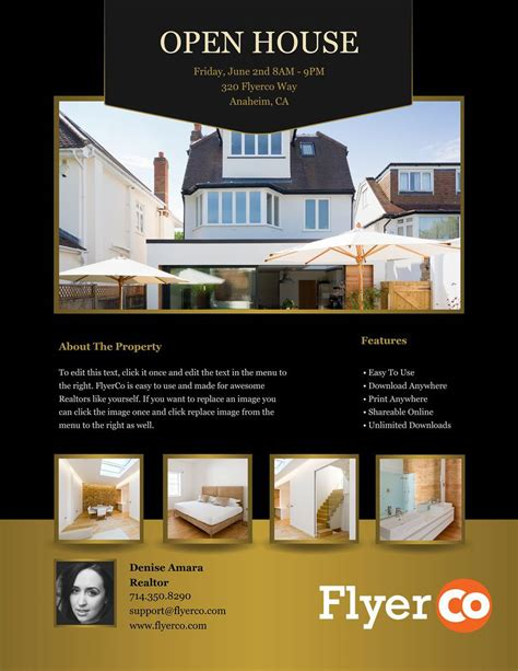 open house estate 18 open house brochure template luxury open house
