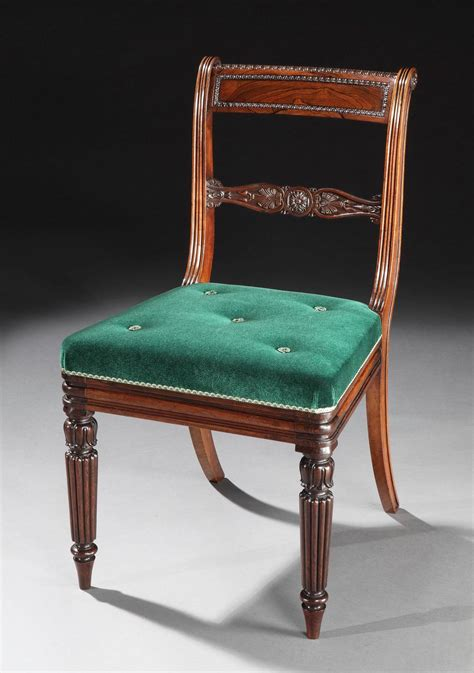 Regency Dining Chairs Set Of 20 Regency Period Dining Chairs With Green Velvet Upholstery At 1stdibs