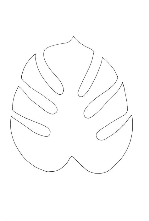 leaf paper template best 25 leaf stencil ideas on