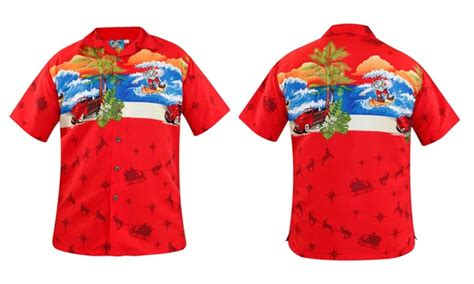 christmas themed clothing uk mens christmas themed hawaiian shirts for 163 8 99 36 off