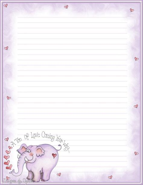 stationery writing paper free valentines stationery paper designs penpal