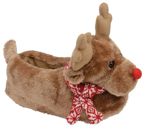 rudolph slippers dunlop womens boys novelty slippers boots rudolph