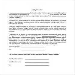 liability release form examples 9 download free