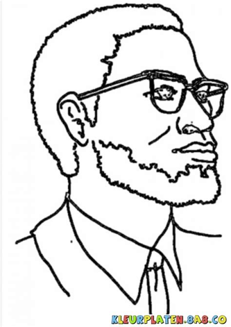Coloring Page Of Malcolm X by Malcolm X Coloring Pages And Printables Coloring Pages
