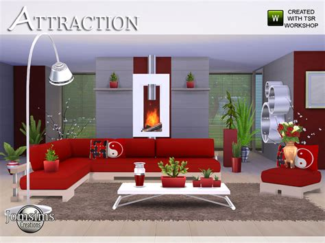 sims 4 wohnzimmer jomsims attraction living room
