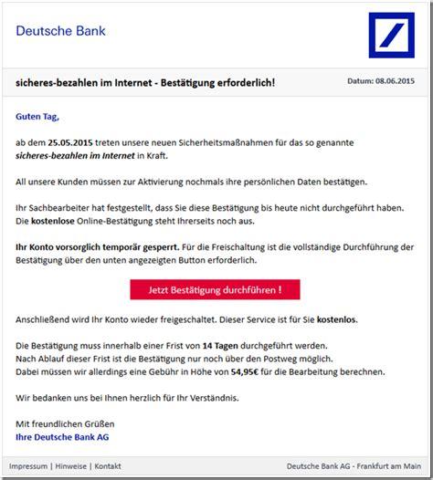 deutsche bank spam deutsche bank wichtige mitteilung phishing mimikama