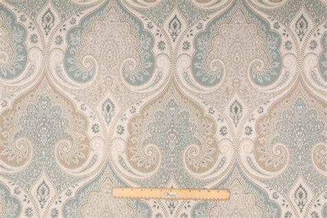 Designer Drapery Fabric 1 88 yards designer latika printed linen drapery fabric in seafoam