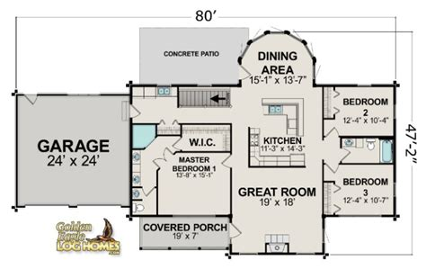 ranch style log home floor plans ranch floor plans log homes ranch style log home floor