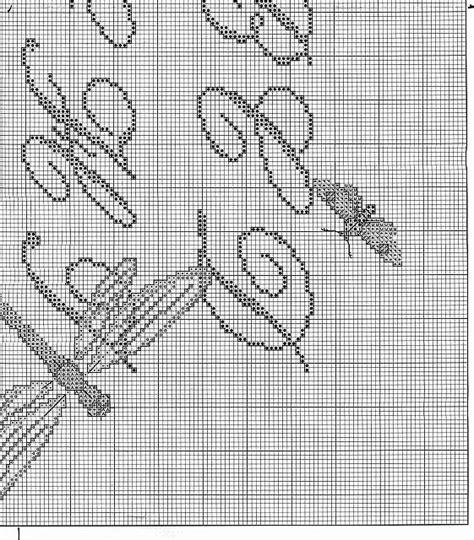 lettere corsive punto croce sler punto croce con lettere corsive e farfalle 7