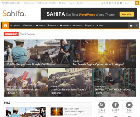 sahifa theme for wordpress die besten wordpress themes meine top 3