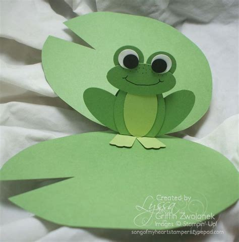 Frog Pop Up Card Template