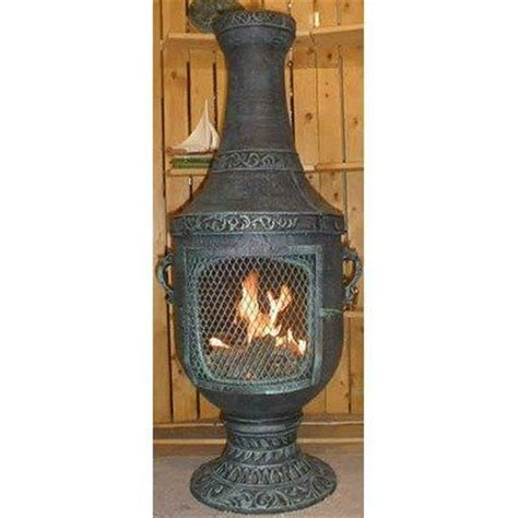 chiminea gas venetian style chiminea with gas kit and cover finish