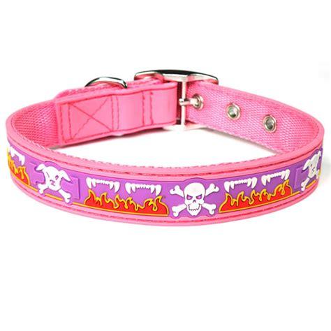 cute pattern dog collars cute pink skull pattern pvc dog collars petsoo com