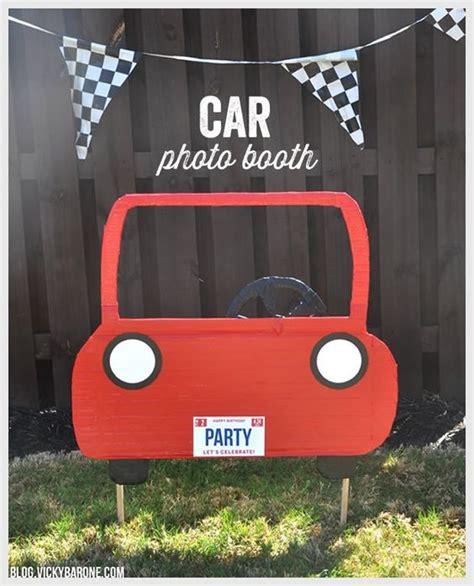cars photo booth layout diy car photo booth cars themed birthday diy photo