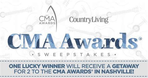 Country Living Magazine Sweepstakes - country living cma awards 2017 sweepstakes