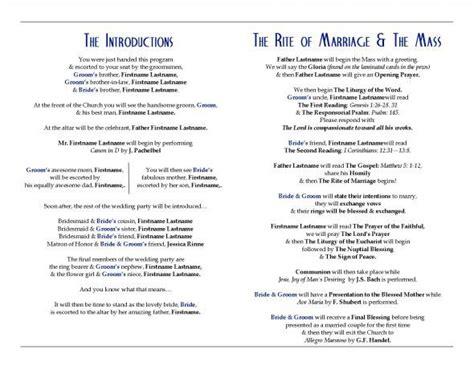 layout of catholic wedding mass catholic wedding programs with mass wedding ceremony