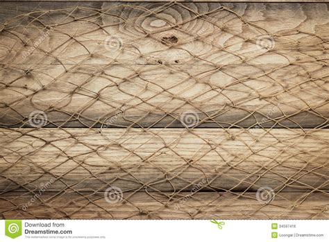 decorative fishing net wooden background texture and