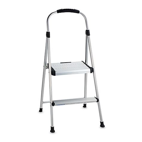 one step aluminum step stool buy cosco 174 signature two step aluminum step stool from bed