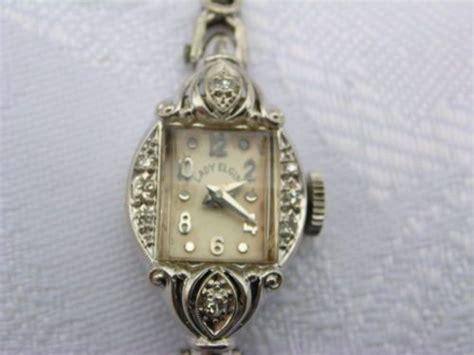 vintage s 14k white gold 23 elgin w