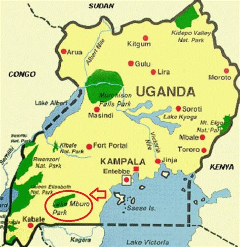 map of uganda lake mburo and in uganda and back