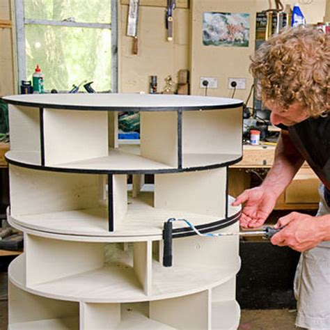 how to make a lazy susan for a kitchen cabinet diy lazy susan shoe storage the owner builder network