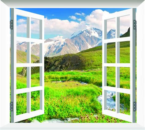 imagenes de paisajes vistos desde una ventana fotomural decorativo ventana con vistas a un paisaje de
