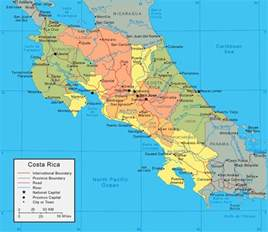detailed road map of costa rica maps of costa rica map library maps of the world